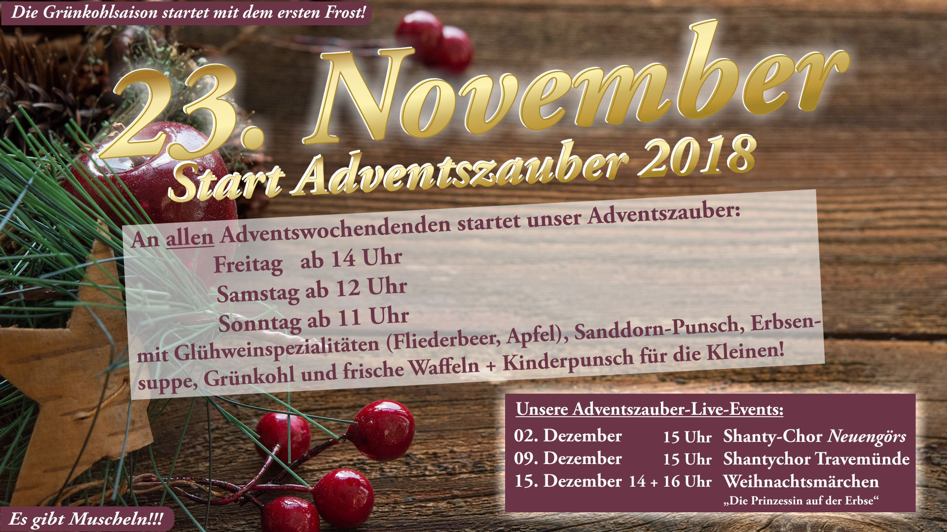Der Adventszauber startet am 23. November!