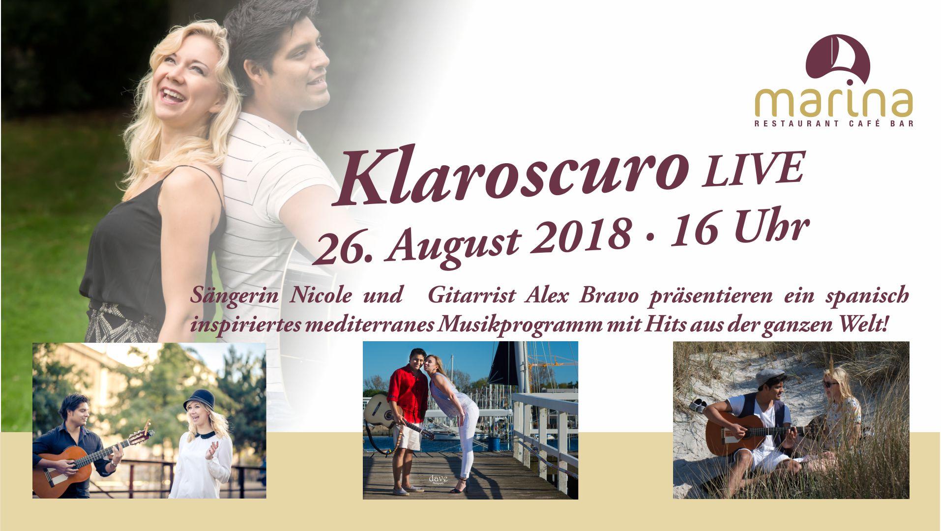 Klaroscuro kommen am 26. August 2018 um 16 Uhr!