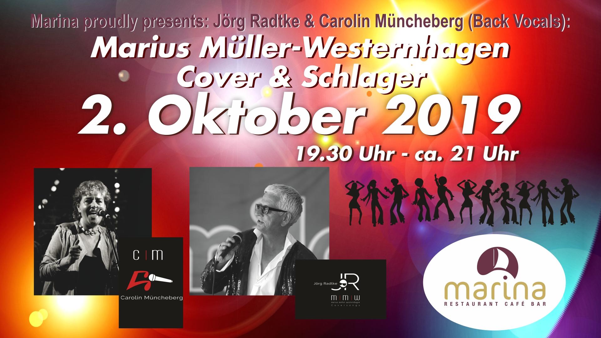 Marina proudly presents Jörg Ratke & Carolin Müncheberg am 2. Oktober um 19.30 Uhr!