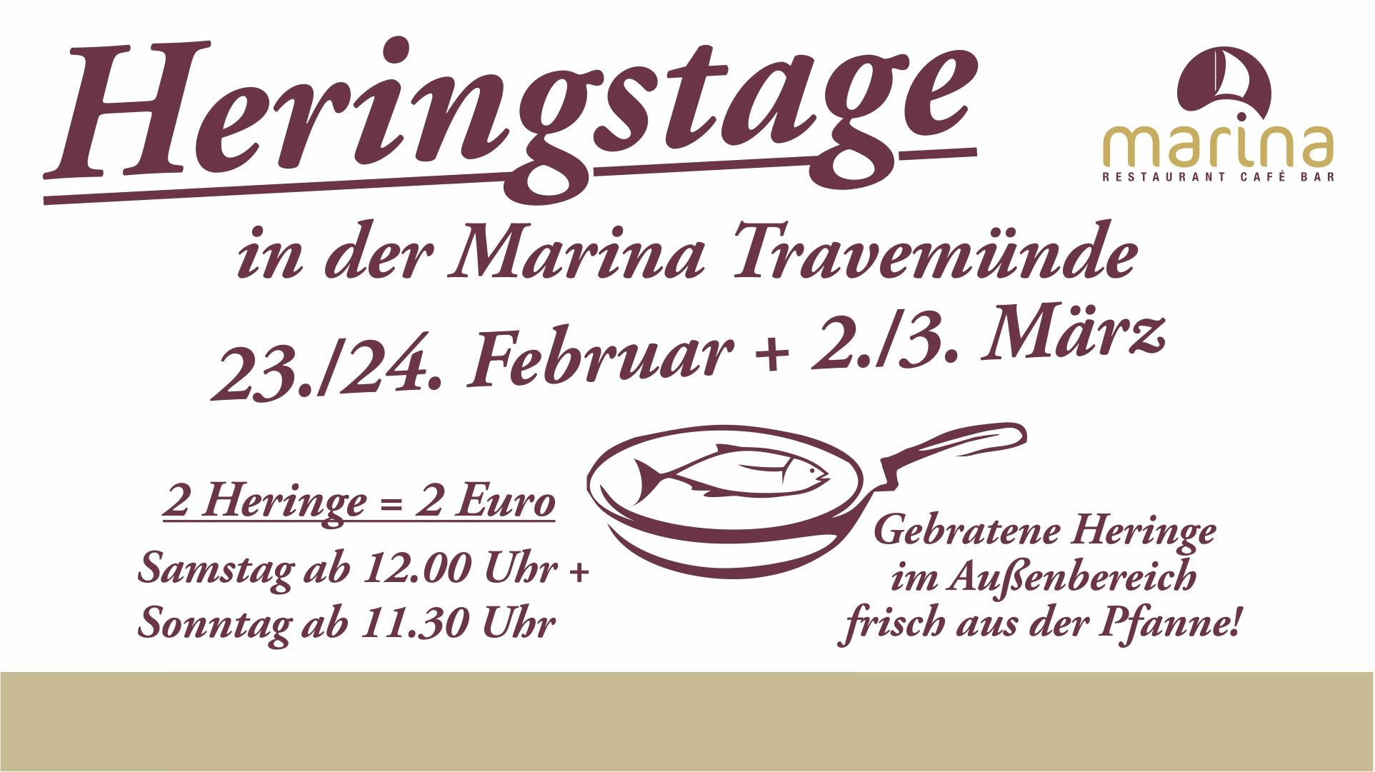 Heringstage in der Marina am 23. / 24. Februar und 2. / 3. März!