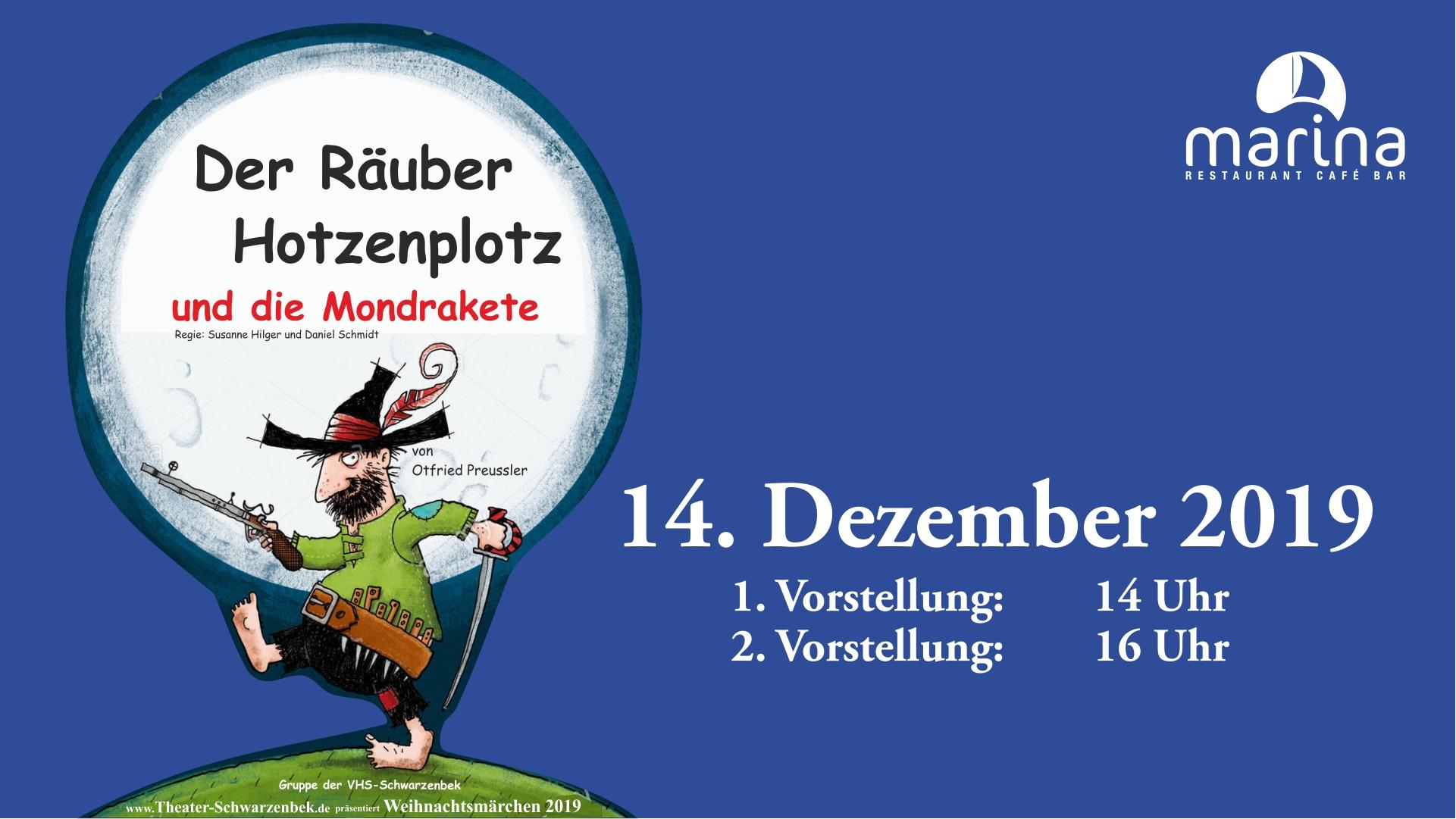 """""""Räuber Hotzenplotz und die Mondrakete"""" am 14. Dezember hier bei uns"""