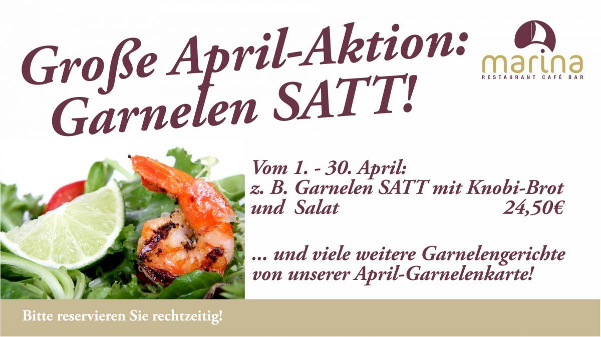 Garnelen, Garnelen, Garnelen – vom 1. bis zum letzten April 2018