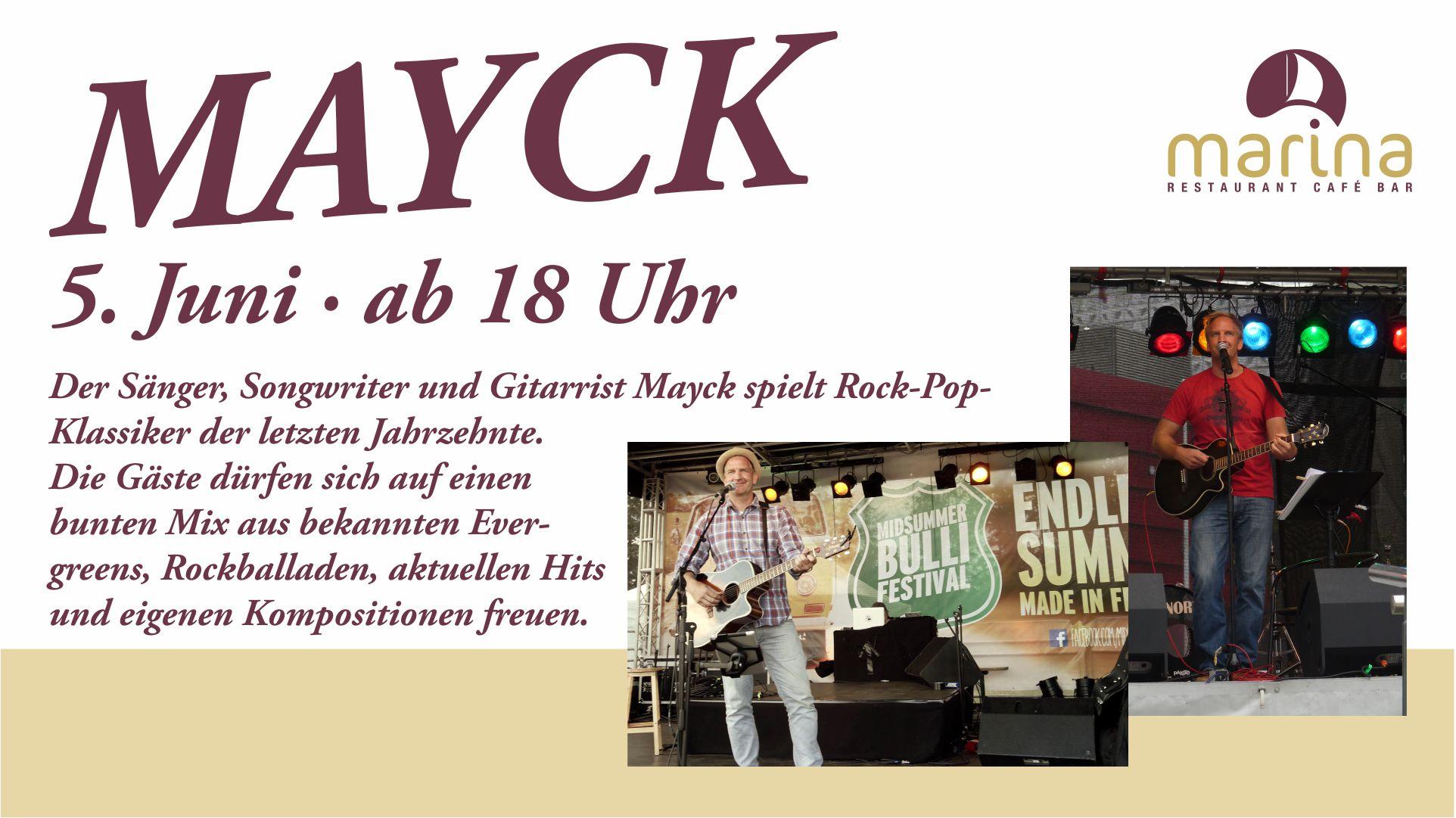 MAYCK singt für uns am 5. Juni ab 18 Uhr
