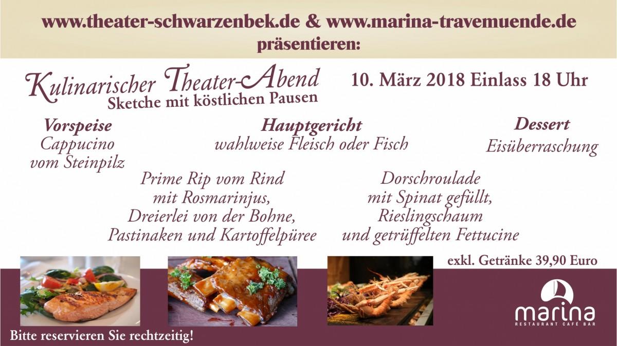 Unser Menü zum Kulinarischen Theater-Abend am 10. März 2018